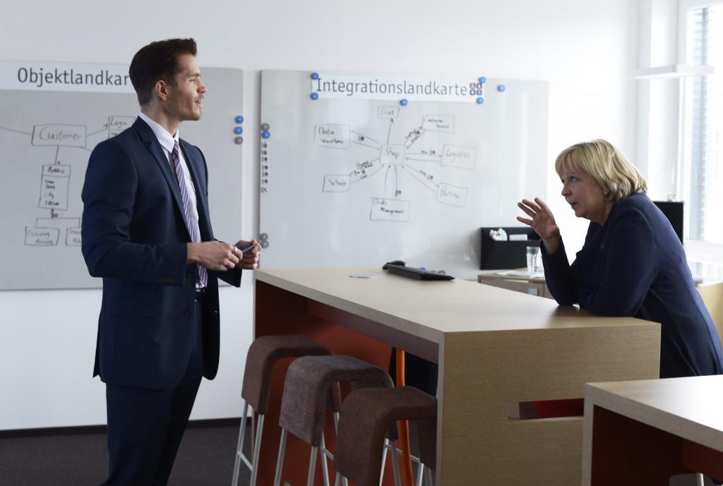 Hannelore Kraft im Interaction Room